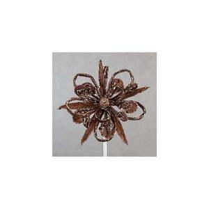 Brązowy świąteczny kwiat dekoracyjny DecoKing Natu obraz