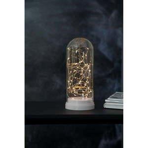 Biała dekoracja świetlna LED Best Season Glass Dome, wys. 25 cm obraz