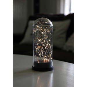 Czarna dekoracja świetlna LED Best Season Glass Dome, wys. 25 cm obraz