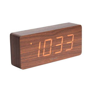 Budzik z elementami drewnianymi Karlsson Cube, 21x9 cm obraz
