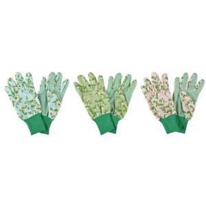 Zestaw 3 par rękawic ogrodowych Ego Dekor Plaque Rose obraz