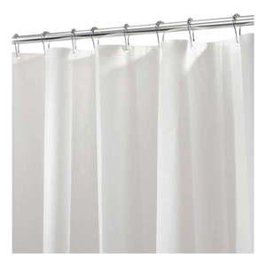Biała zasłona prysznicowa iDesign PEVA Liner, 183x183 cm obraz