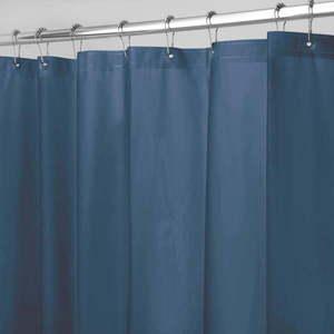 Niebieska zasłona prysznicowa iDesign PEVA, 183x183 cm obraz