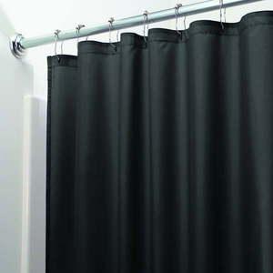 Czarna zasłona prysznicowa iDesign, 200x180 cm obraz
