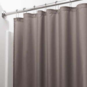 Brązowa zasłona prysznicowa iDesign, 200x180 cm obraz