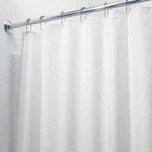 Biała zasłona prysznicowa iDesign, 200x180 cm obraz