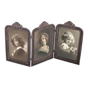 Metalowa ramka na 3 zdjęcia, 37, 5x19, 5 cm obraz