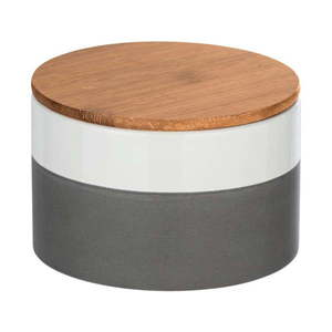 Ceramiczny pojemnik z bambusową pokrywką Wenko Malta, 750 ml obraz
