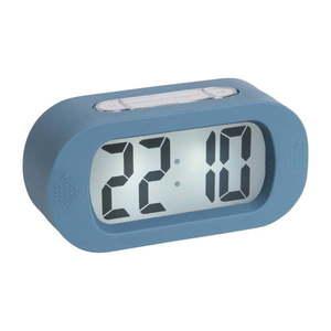 Niebieski budzik z gumową obudową Karlsson Gummy obraz