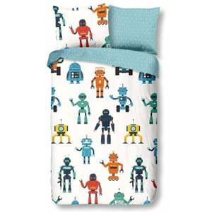 Pościel dziecięca z bawełny Good Morning Robots, 140x200 cm obraz