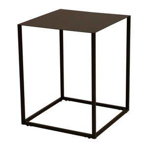 Czarny metalowy stolik Canett Lite, 40x40 cm obraz