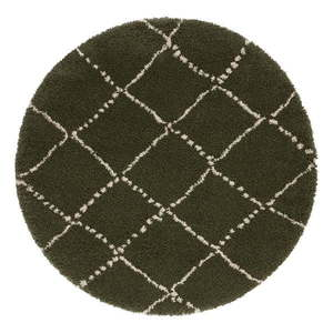 Zielony dywan Mint Rugs Hash, ⌀ 120 cm obraz