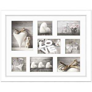 Biała ramka na 8 zdjęć Styler Galeria Malmo, 51x41 cm obraz