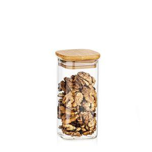 4Home Szklany pojemnik do żywności z wiekiem Bamboo, 300 ml obraz