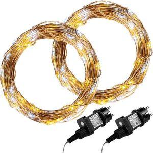 Zestaw 2 sztuk 50 drutów świetlnych LED - ciepła biel obraz