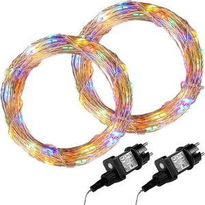 Zestaw 2 sztuk drutów świetlnych 100 LED - w kolorze obraz