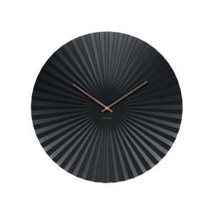 Czarny zegar Karlsson Sensu, Ø 50 cm obraz