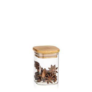4Home Szklany pojemnik do żywności z wiekiem Bamboo, 170 ml obraz