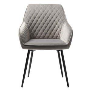 Szare aksamitne krzesło Unique Furniture Milton obraz