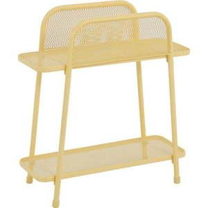 Żółty metalowy stolik na balkon ADDU MWH, wys. 70 cm obraz