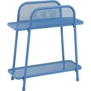 Niebieski metalowy stolik na balkon ADDU MWH, wys. 70 cm obraz