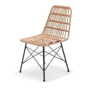 Wiklinowe krzesło ogrodowe ze sztucznego rattanu Le Bonom Gabriela obraz