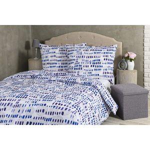 Pościel Indygo Dream - biały z niebieskimi elementami - Rozmiar 140x200cm + 70x90cm obraz