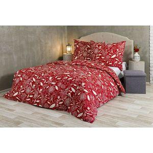 Pościel Velvet Spring - czerwono-biały - Rozmiar 140x200cm + 70x90cm obraz