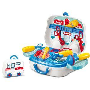 Kuferek dziecięcy Doktor - niebieski - Rozmiar 10x21x27 cm obraz