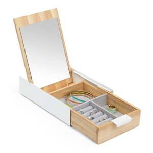 Drewniana szkatułka z lustrem Umbra obraz