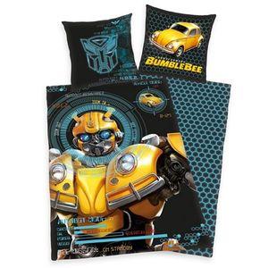 Dziecięca pościel bawełniana Transformers Blumblebee, 135 x 200 cm, 80 x 80 cm obraz
