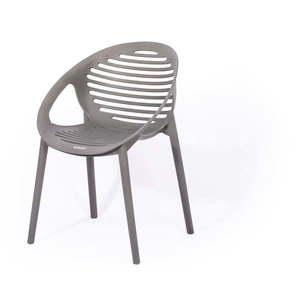 Szare krzesło ogrodowe Le Bonom Joanna obraz