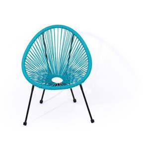 Niebieskie wiklinowe krzesło Le Bonom Avocado, 50, 5x62x55, 5 cm obraz