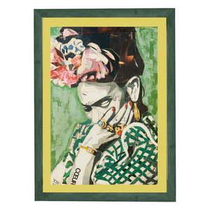 Obraz w ramie Surdic Green Frida, 30x40 cm obraz