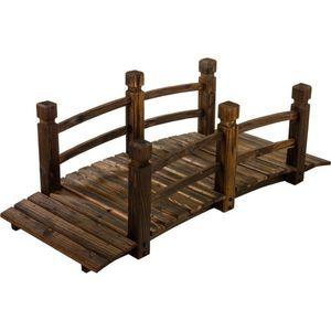Drewniana kładka mostek ogrodowy 150 cm obraz