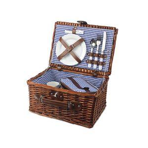 Kosz piknikowy leśne wspomnienie, niebieski KWL obraz