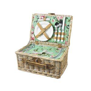 Kosz piknikowy pistacjowe śniadanie, biało-zielony KPS obraz