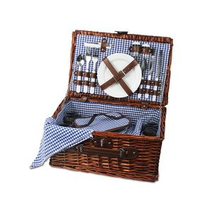 Kosz piknikowy bukowa polana, niebieski KBP obraz
