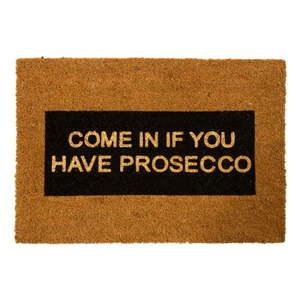 Wycieraczka z naturalnego włókna kokosowego Artsy Doormats Come In If you Have Prosecco Glitter, 40x60 cm obraz