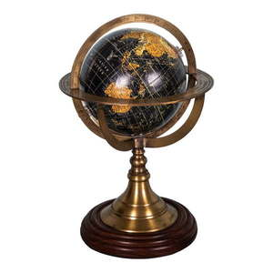 Globus dekoracyjny z podstawą drewna palisandrowego Antic Line Globe, ø 17 cm obraz