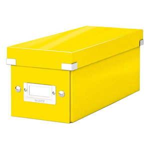 Żółte pudełko do przechowywania z pokrywką Leitz CD Disc, dł. 35 cm obraz