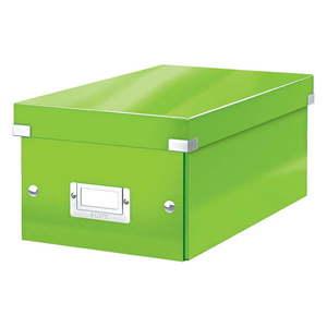 Zielone pudełko do przechowywania z pokrywką Leitz DVD Disc, dł. 35 cm obraz