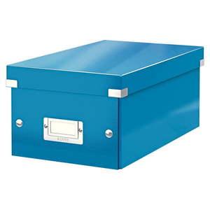 Niebieskie pudełko do przechowywania z pokrywką Leitz DVD Disc, dł. 35 cm obraz
