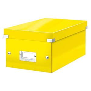 Żółte pudełko do przechowywania z pokrywką Leitz DVD Disc, dł. 35 cm obraz