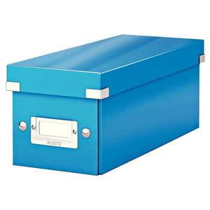 Niebieskie pudełko do przechowywania z pokrywką Leitz CD Disc, dł. 35 cm obraz
