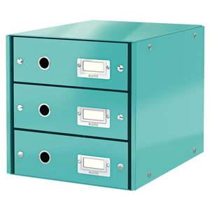 Turkusowy pojemnik z 3 szufladami Leitz Office, 36x29x28 cm obraz
