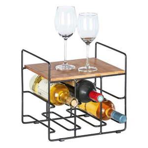 Stojak na 6 butelek wina z bambusową półką Wenko Loft obraz