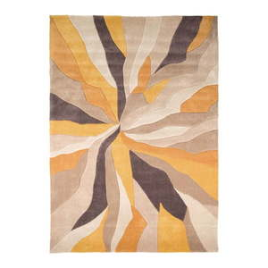 Żółty dywan Flair Rugs Splinter, 160x220 cm obraz
