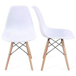 Zestaw krzeseł do jadalni z plastikowym siedziskiem, 2 sztuk obraz