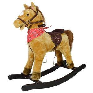 Koń na biegunach Morgan z efektami dźwiękowymi, 74 x 30 x 64 obraz